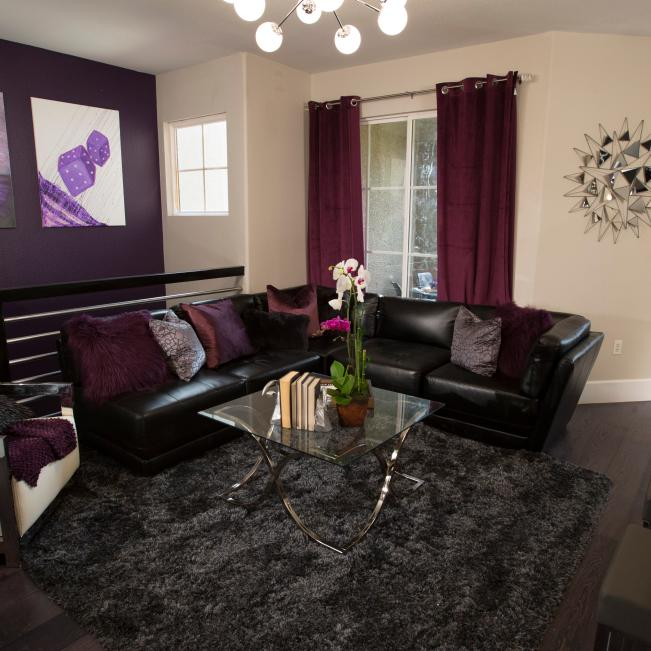 Purple Living Space And Living Room Pictures Hgtv Photos