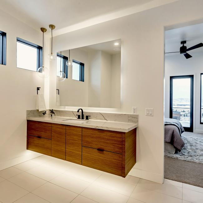 Photos, Waterfall Bathroom Vanity